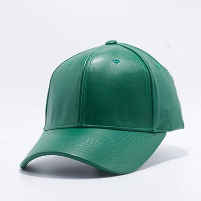 Pit Bull Pu Leather Baseball Hats Wholesale [D.green] Adjustable