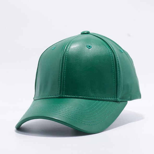 Pit Bull Dark Green Leather Baseball Cap Hat