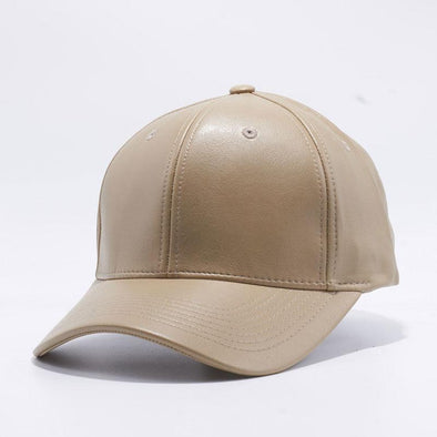 Pit Bull Khaki PU Leather Baseball Hat Cap Wholesale