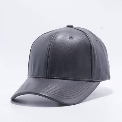 Pit Bull Pu Leather Baseball Hats Wholesale [Charcoal] Adjustable
