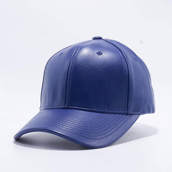 Pit Bull Pu Leather Baseball Hats Wholesale [Royal] Adjustable