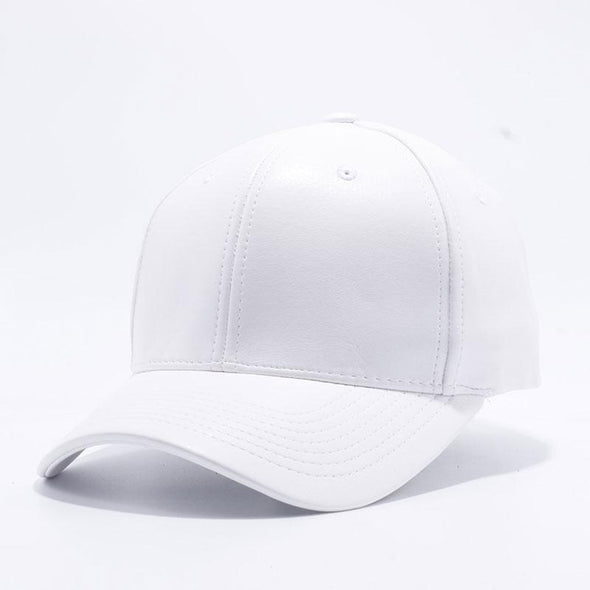 Pit Bull White Leather Baseball Cap Hat