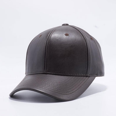 Pit Bull Dark Brown PU Leather Baseball Hat Cap Wholesale