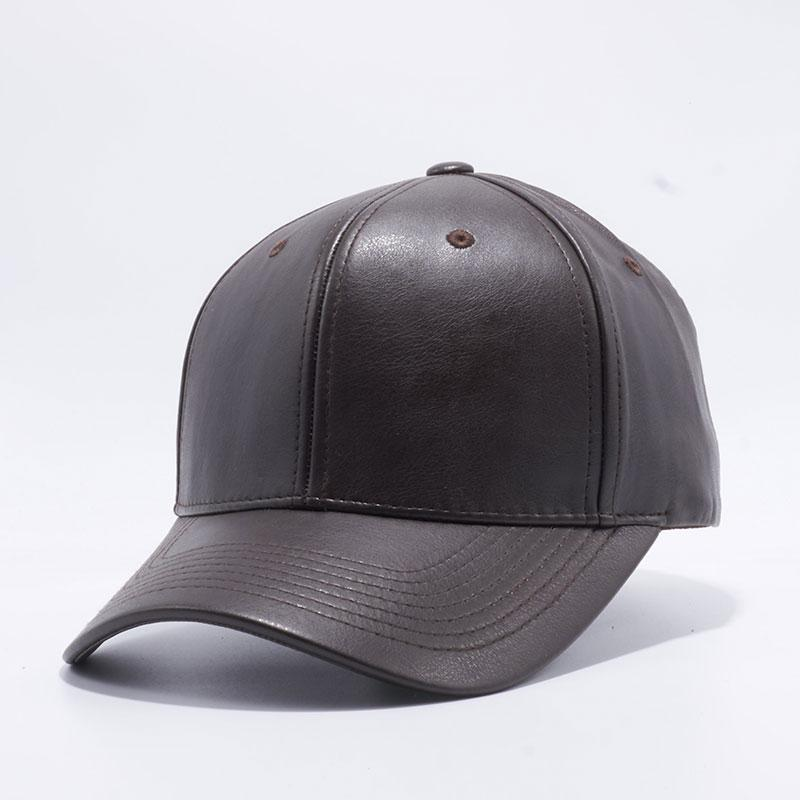 Pit Bull PU Leather Baseball Hats Wholesale  D.Brown  – Pit Bull Cap fa148188653f