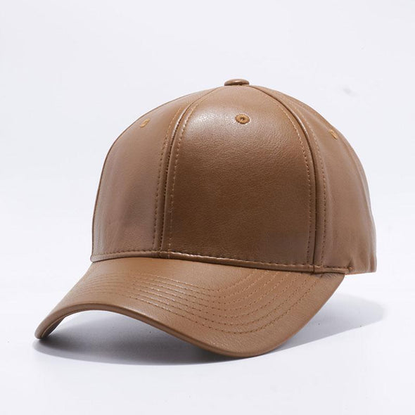 Pit Bull Brown Leather Baseball Cap Hat
