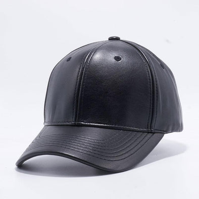 Pit Bull Black Leather Baseball Cap Hat