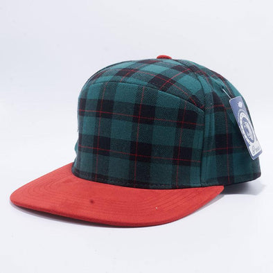 Pit Bull Check Suede Snapback Hats Wholesale [Green/red]