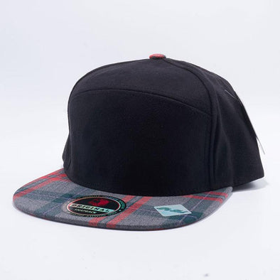 Pit Bull Check Suede Snapback Hats Wholesale [Black/Grey]