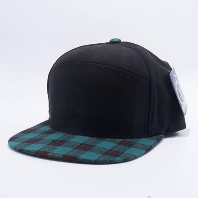 Pit Bull Check Suede Snapback Hats Wholesale [Black/Green]