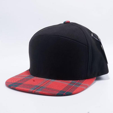 Pit Bull Check Suede Snapback Hats Wholesale [Black/Red]
