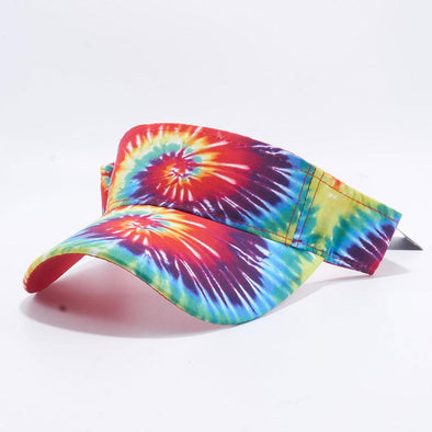 Pit Bull Tie Dye Visor Hats Wholesale [Rainbow 1]