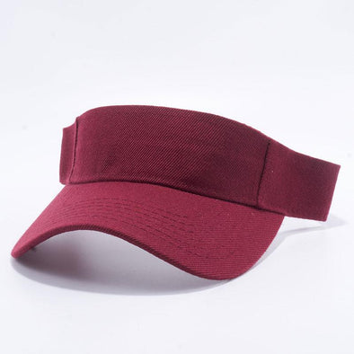 Pit Bull Blank Visor Hats Wholesale [Burgundy]