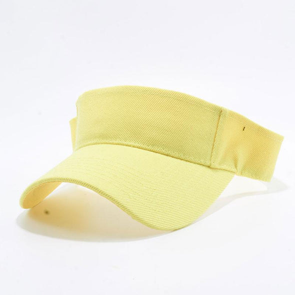 Pit Bull Blank Visor Hats Wholesale [Yellow]