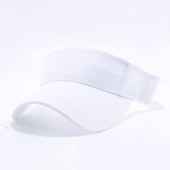 Pit Bull Blank Visor Hats Wholesale [White]