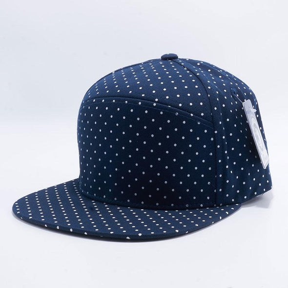 Pit Bull Polkadot Strapback Hats Wholesale [Navy/white] Adjustable