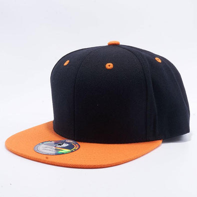58ea1118019 Pit Bull Two Tone Black and Orange Blank Acrylic Snapback Hats Whoelsale.