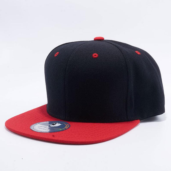 Pit Bull Two Tone Black and Red Blank Acrylic Snapback Hats Whoelsale