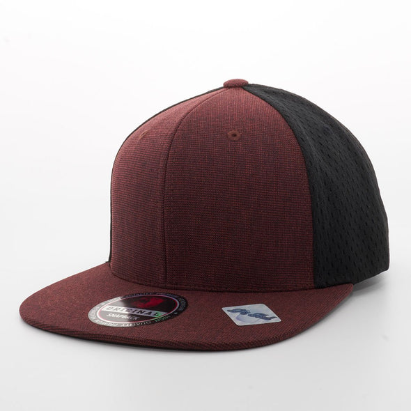 Pb110 Linen Jersey Mesh-Back Snapback [Red]