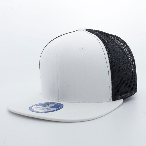 PB107 Pit Bull Cotton Trucker Hats [White/Black]