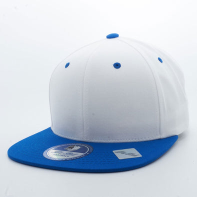 Pit Bull PB105 6 Panel Cotton Snapback Hats Wholesale [White/Royal]