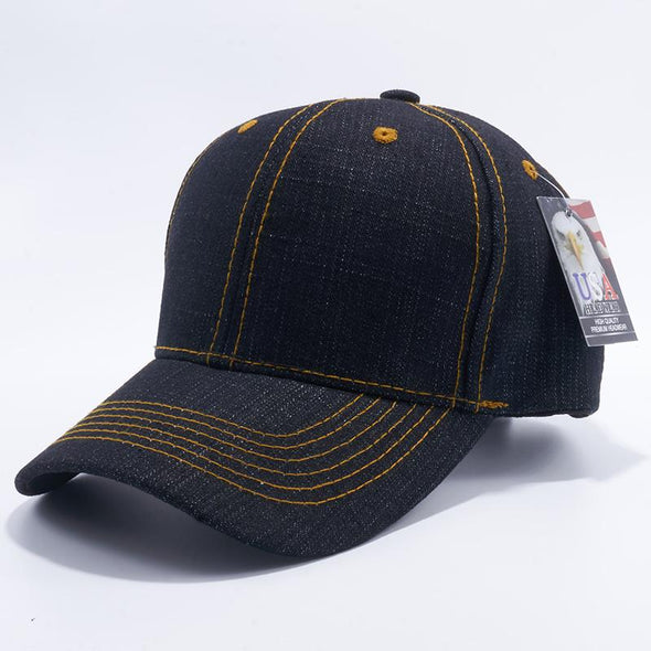 Pit Bull Denim Baseball Caps Wholesale [Black] Adjustable