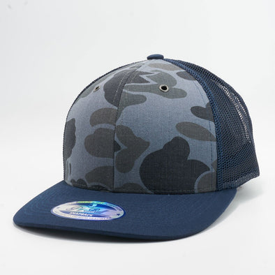 PB226 Pit Bull Cambridge Camo Trucker Hats Wholesale [Navy]