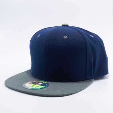 Pit Bull Two Tone Dark Navy and Dark Grey Blank Acrylic Snapback Hats Whoelsale.