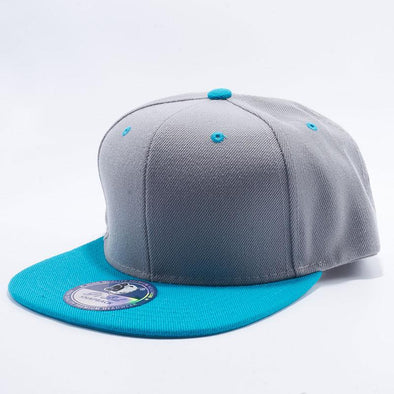 Pit Bull Two Tone Light Grey and Aqua Teal Blank Acrylic Snapback Hats Whoelsale.