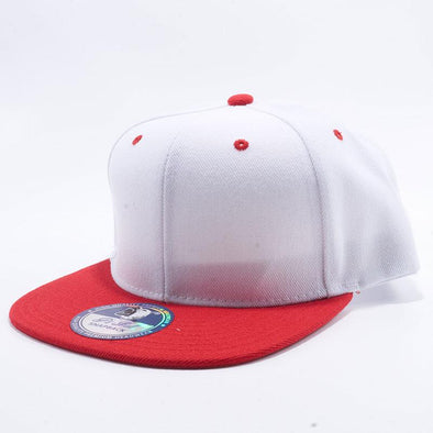 Pit Bull Two Tone White and Red Blank Acrylic Snapback Hats Whoelsale.