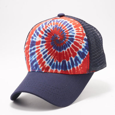 Pb227 Tie Dye Curved Visor Trucker [Usa 4]