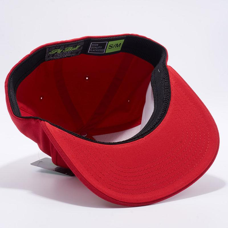 13219ba9673 Pit Bull Comfort Fit Flat Fitted Hats Wholesale  Red  – Pit Bull Cap