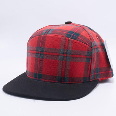 Pit Bull Check Suede Snapback Hats Wholesale [Red-1/black]