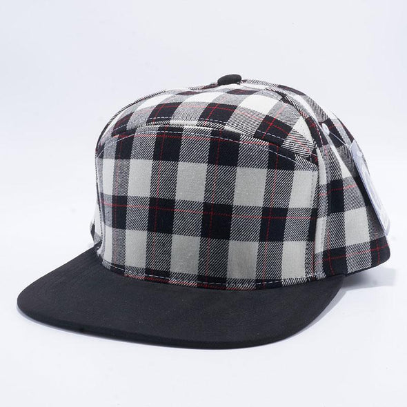 Pit Bull Check Suede Snapback Hats Wholesale [White/black]