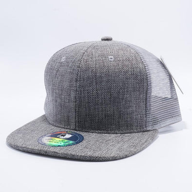 Pit Bull Grey Linen Trucker Hats Whoelsale and Custom