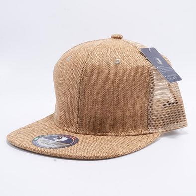 Pit Bull Linen Trucker Hats Wholesale [Wheat]