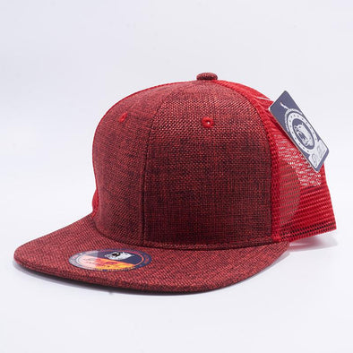 Pit Bull Red Linen Trucker Hats Whoelsale and Custom