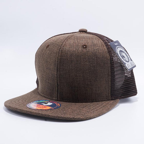 Pit Bull Brown Linen Trucker Hats Whoelsale and Custom