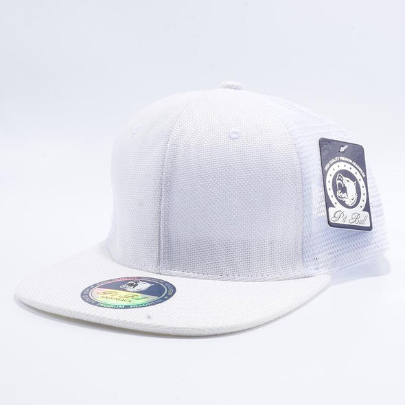 Pit Bull Linen Trucker Hats Wholesale [White]