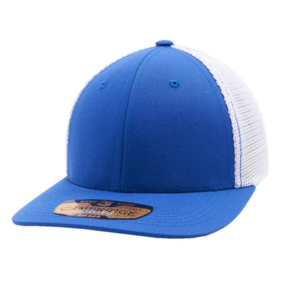 Pb229 Pit Bull Cambridge Mesh Stretch [Royal/white] S/m Trucker