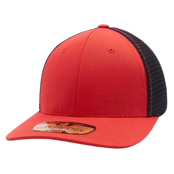 Pb229 Pit Bull Cambridge Mesh Stretch [Red/black] S/m Trucker