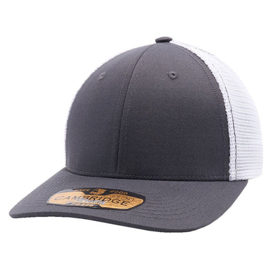 Pb229 Pit Bull Cambridge Mesh Stretch [Charcoal/white] S/m Trucker