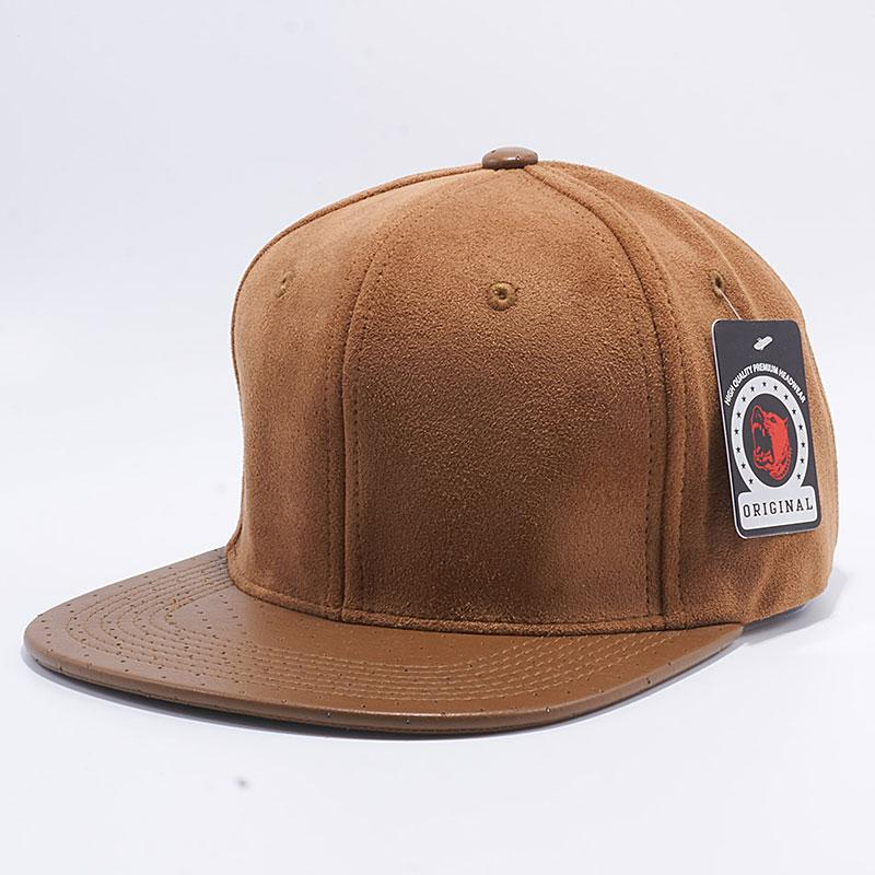 Pit Bull Suede Leather Snapback Hats  Wheat  – Pit Bull Cap a4469cfea59a