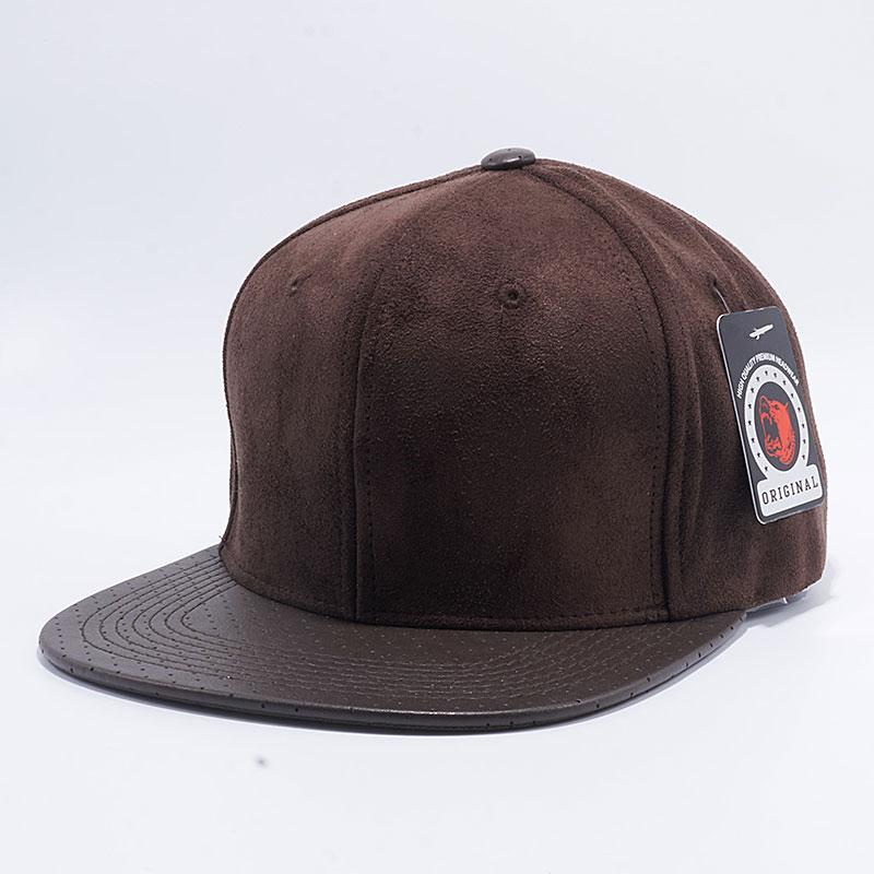 Pit Bull Suede Leather Snapback Hats  Dark Brown  – Pit Bull Cap 3ee7dc454a95