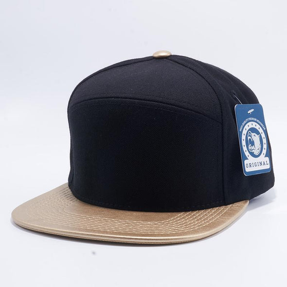 Pit Bull Wool Blend Leather Snapback Hats Wholesale [Black/gold]