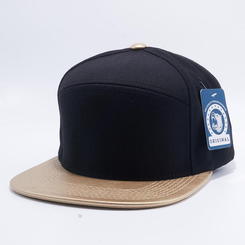 2507c022355 Pit Bull Wool Blend Leather Snapback Hats Wholesale  Black Gold  – Pit Bull  Cap