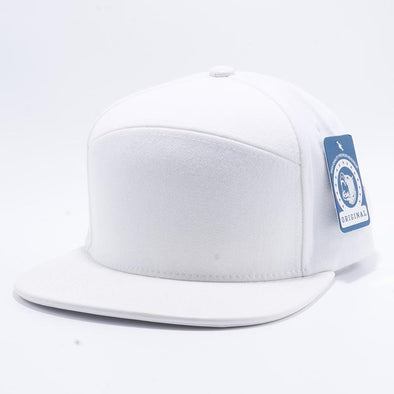 Pit Bull Premium White Wool Blend Leather Visor Snapback Hat Cap Wholesale and Custom.