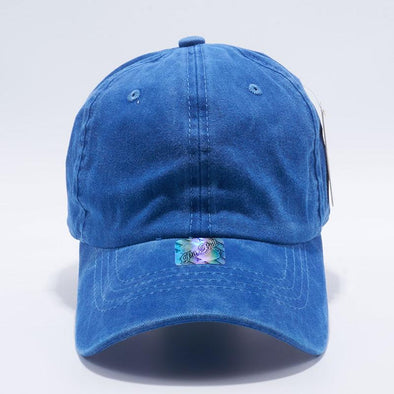 Pit Bull Pigment Dyed Dad Hat Wholesale [Royal]