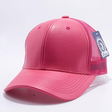 Pit Bull Leather Trucker Hats Wholesale [H.pink]