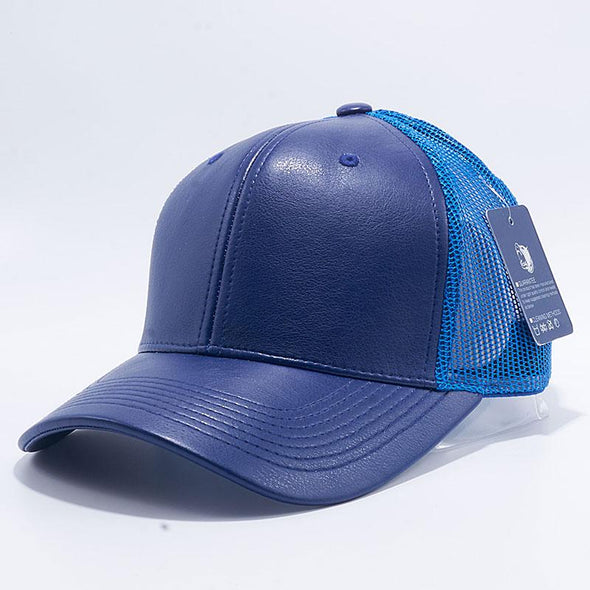 Pit Bull Leather Trucker Hats Wholesale [Royal]