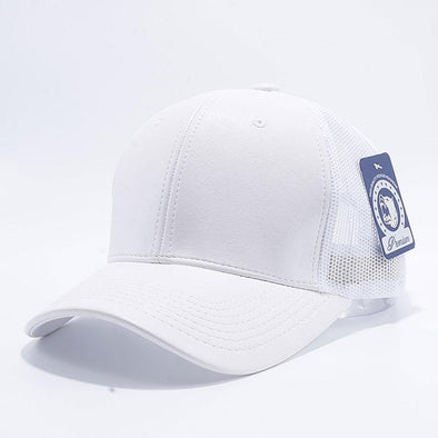 Pit Bull Leather Trucker Hats Wholesale [White]